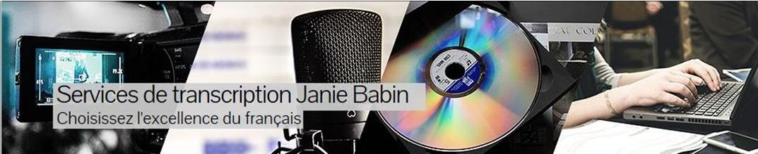 Services de transcription Janie Babin